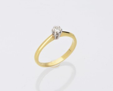 18ct Yellow Gold 0.10ct Solitaire Ring