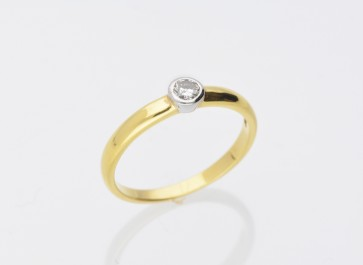 Yellow Gold 0.15ct Solitaire Ring