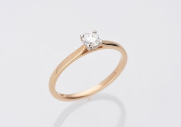 0.26ct Diamond Yellow Gold Solitaire Ring
