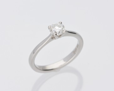 Platinum 0.65ct G Colour Solitaire Ring