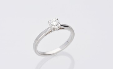 0.50ct Platinum H Coloured Ring