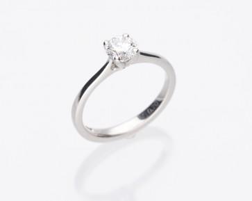 Platinum 0.71ct E Colour Solitaire Ring