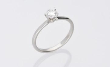 Platinum 0.52ct F Colour Solitaire Ring