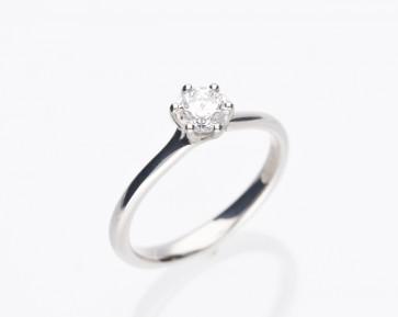 0.51ct Platinum Solitaire Diamond Ring