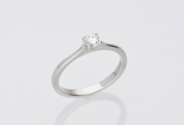 0.30ct Diamond Solitaire Ring - Platinum
