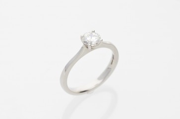 0.63ct G Coloured Solitaire Ring