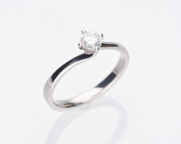 0.33ct Platinum Solitaire Ring
