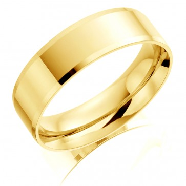 18ct Yellow Gold 6mm Wedding Ring