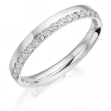 Platinum 3mm Diamond Wedding Ring