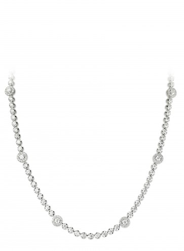 4.3ct Diamond Halo Necklace