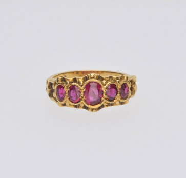 Pre Owned 18ct Yellow Gold Victorian Ruby Ring