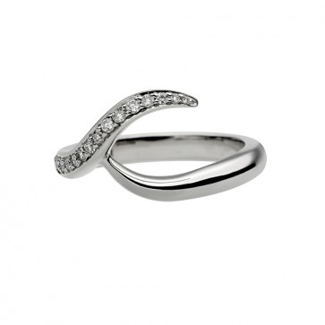Pave Set Wedding Band