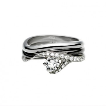 Platinum Vine Wedding Ring Womens