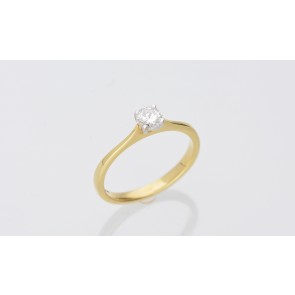18ct Yellow & White Gold 0.20ct Solitaire