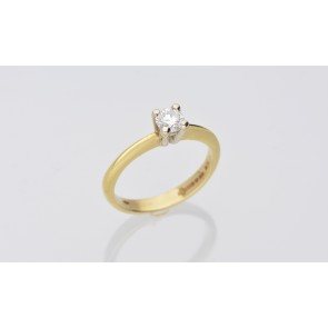 0.33ct Yellow Gold Diamond Solitaire
