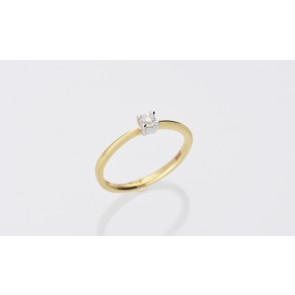 18ct Yellow Gold 0.10ct Diamond Solitaire