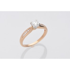 0.41ct Diamond Solitaire Yellow Gold Ring