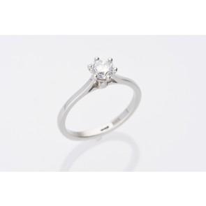 Platinum 0.61ct Solitaire Ring