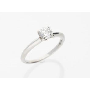 0.79ct Platinum H Coloured Ring
