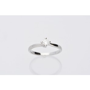 Platinum 0.26ct Diamond Solitaire Ring