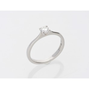 0.32ct Round Brilliant Platinum Diamond Ring