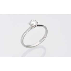 Platinum 0.52ct F Colour Solitaire Ring