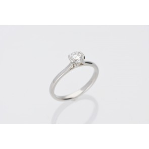 Platinum 0.51ct Solitaire Ring