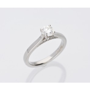 0.58ct H Coloured Solitaire Ring