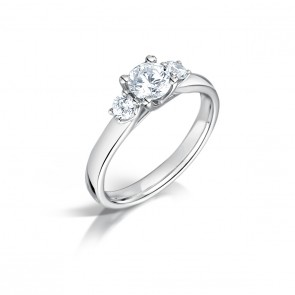 0.74ct Diamond 3 Stone Ring
