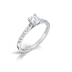 18ct White Gold 0.37/0.18ct Diamond Ring
