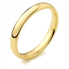 9ct Yellow 2.5mm Wedding Ring