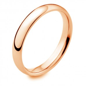 18ct Rose Gold Wedding Band