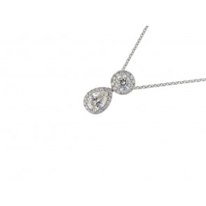 0.50ct Diamond Pear Cut Pendant
