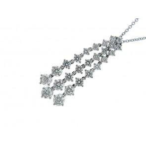 18ct White Gold 2.11ct Diamond Pendant