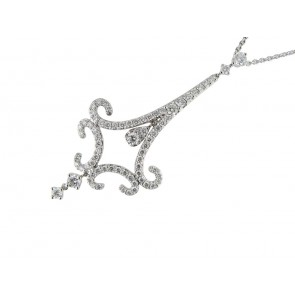 18ct White Gold 1.55ct Diamond Pendant