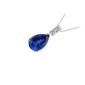 18ct White Gold 6.74ct Tanzanite Pendant