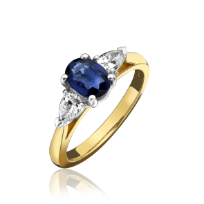 18ct Yellow Gold Diamond/Sapphire Ring