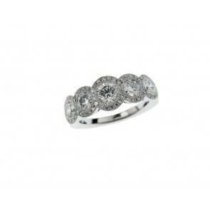 18ct White Gold 1.28ct Diamond Ring