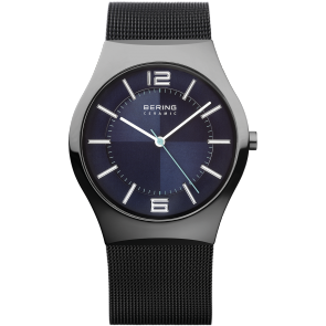 Ceramic Men's watch with Mesh strap