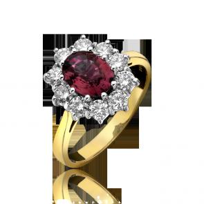 18ct 1.49ct Diamond & 0.85ct Ruby Ring