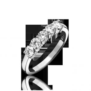 Platinum 0.77ct Diamond 5 Stone Ring