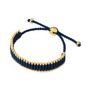 18ct Yellow Gold Vermeil & Navy Cord Friendship Bracelet