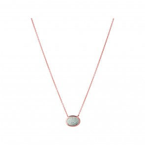 Dia Ess Pave Oval Necklace/Pendant