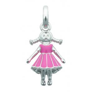 Girl Pink Dress Charm