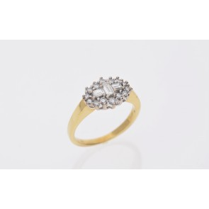 Pre-Owned Diamond Cluster Ring