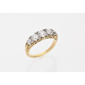 18ct Yellow Gold 5 Stone Pre-Owned Ring