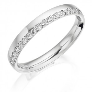 Platinum 3mm Diamond Wedding Ring
