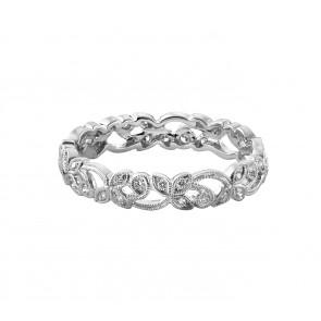 18ct White Gold Mini Floral Diamond Ring