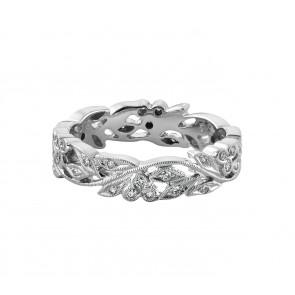 18ct White Gold Cherry Floral Diamond Ring