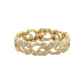 18ct Yellow Floral Diamond Ring